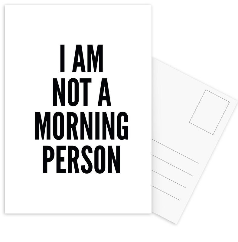 Black & White, Quotes & Slogans, morning Postcard Set