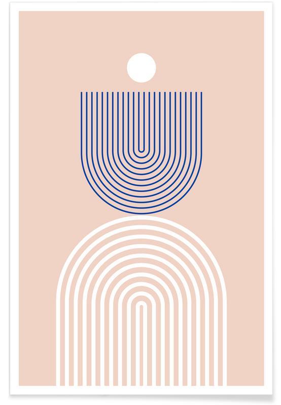 Abstrakte Landschaften, Blue Rainbow -Poster