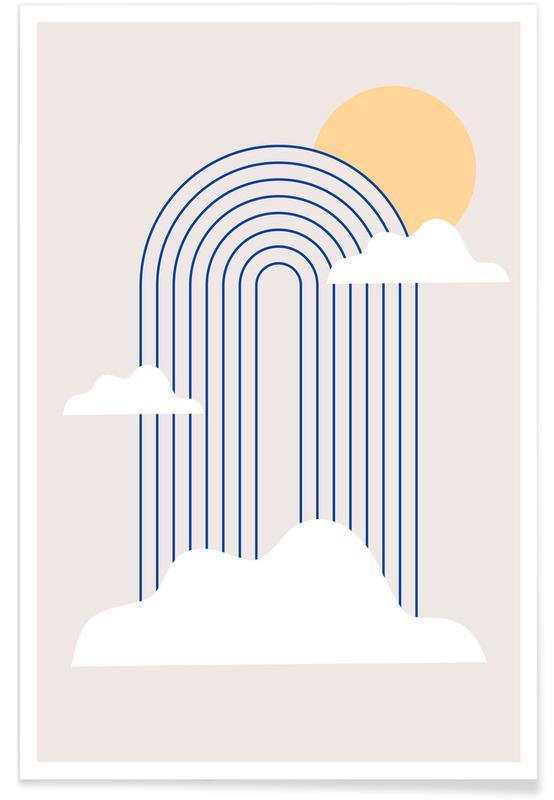 , Rainbow & Clouds affiche