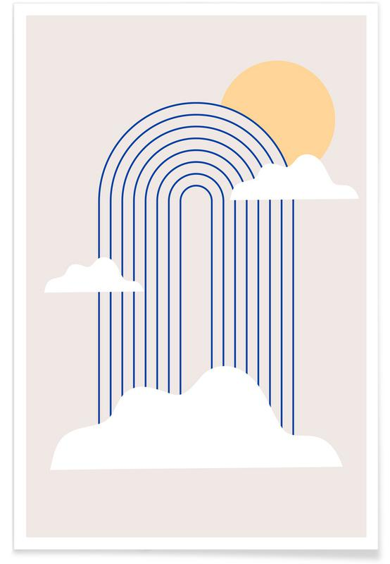 , Rainbow & Clouds Poster