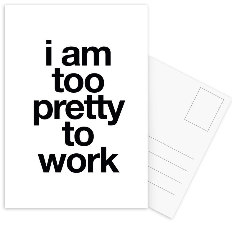Black & White, Funny, Quotes & Slogans, pretty Postcard Set