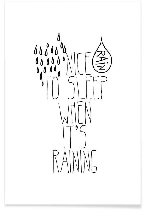 rain affiche