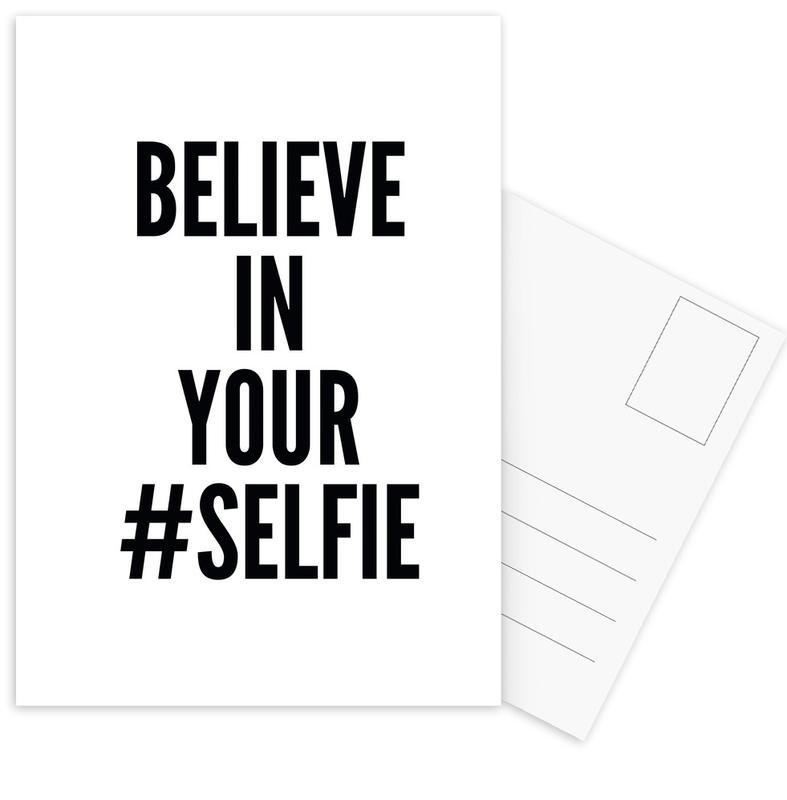 Black & White, Funny, Quotes & Slogans, selfie Postcard Set