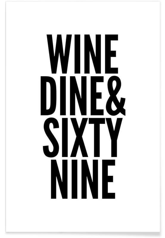 Noir & blanc, Citations et slogans, sixty-nine affiche