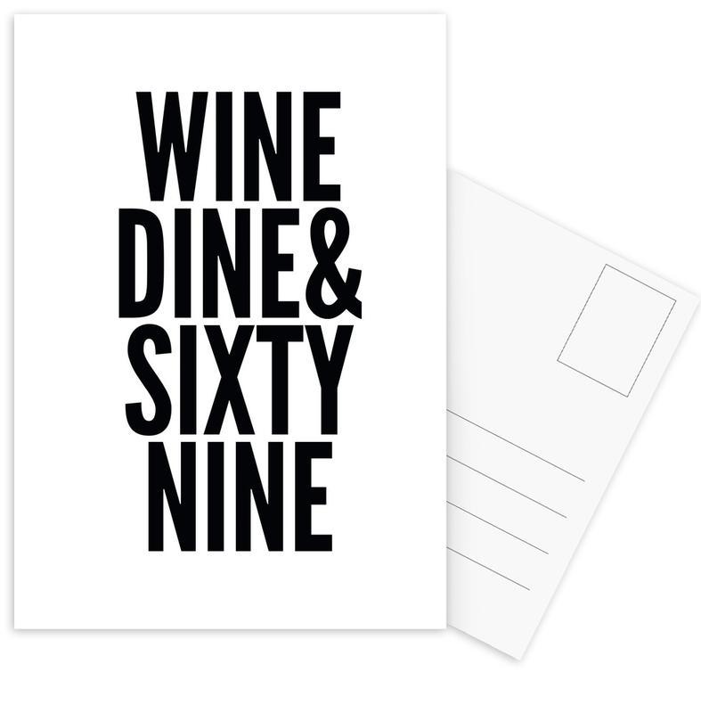 Black & White, Quotes & Slogans, sixty-nine Postcard Set
