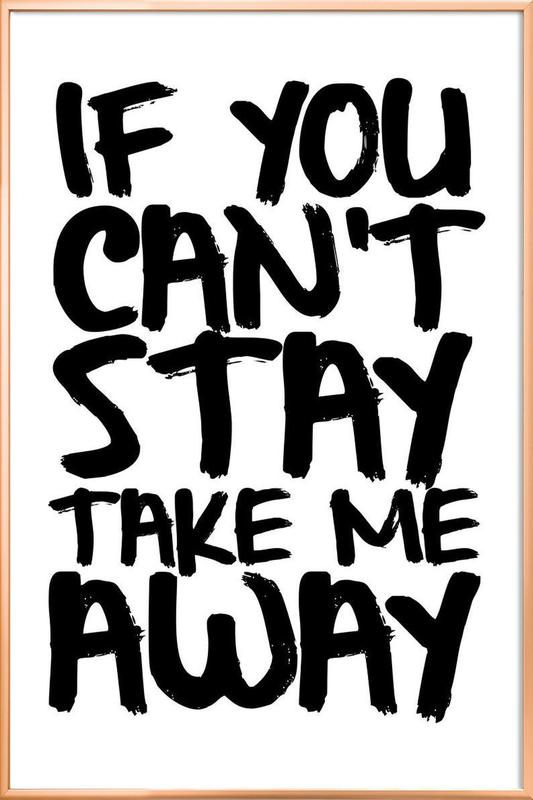 stay poster in aluminium lijst