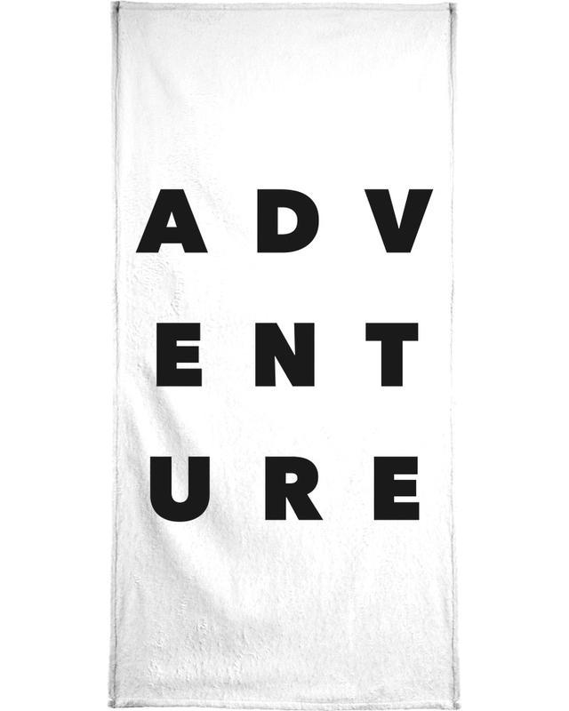 Black & White, Quotes & Slogans, Adventure Bath Towel