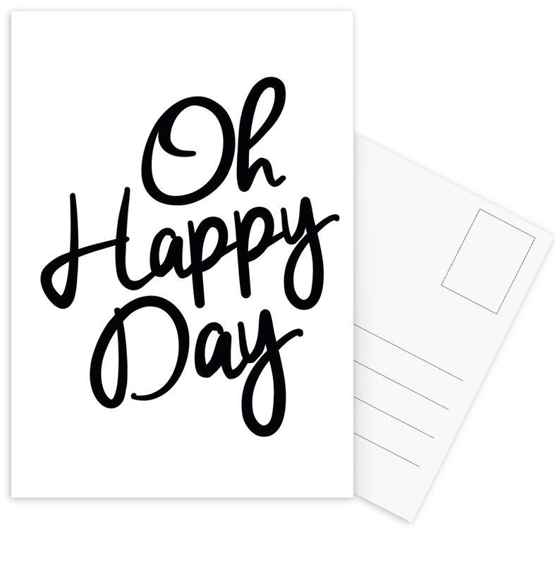 Happy Day Postcard Set