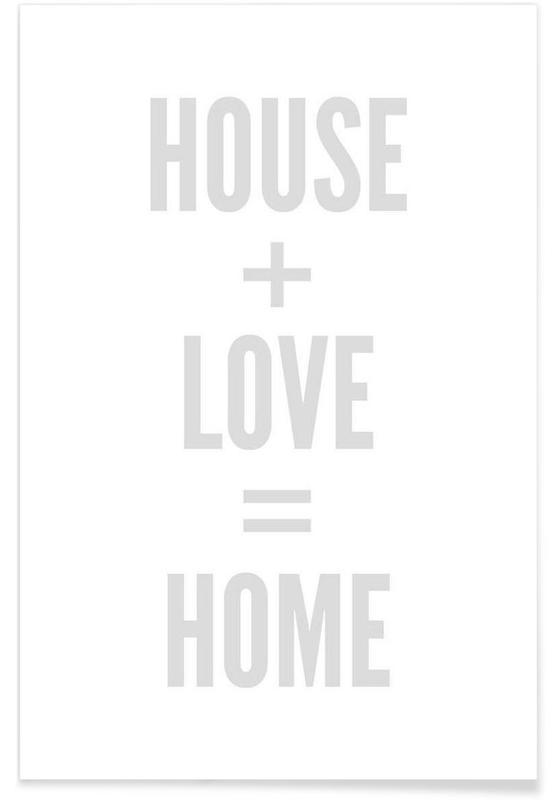 Zwart en wit, Home poster
