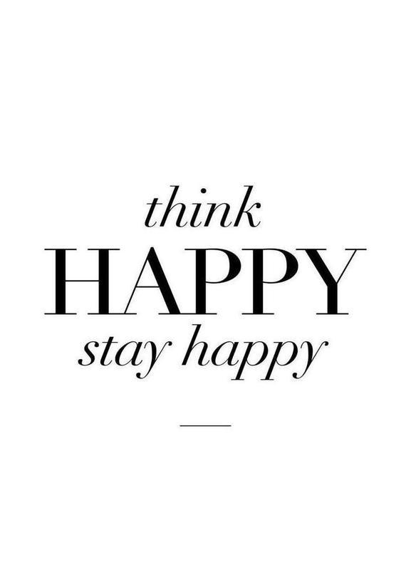 Think Happy canvas doek