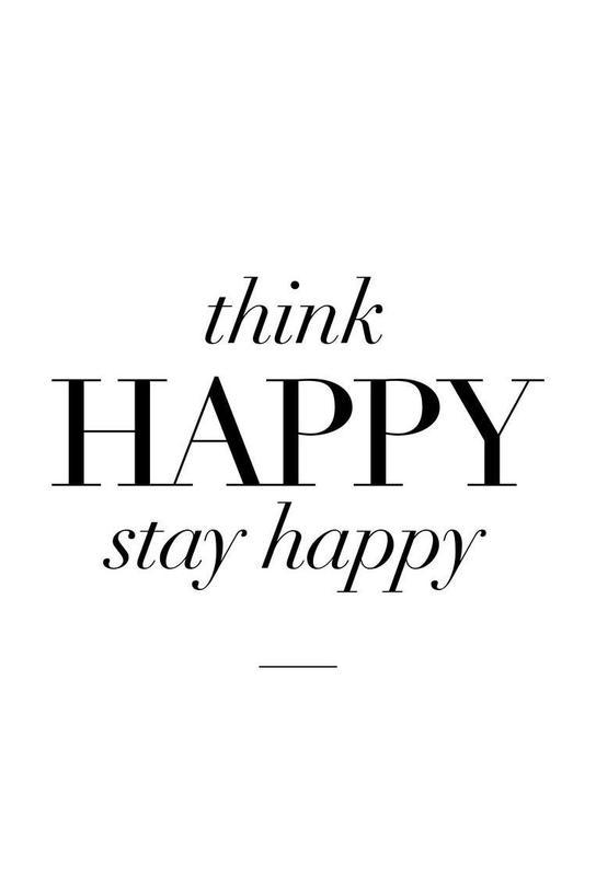 Think Happy alu dibond