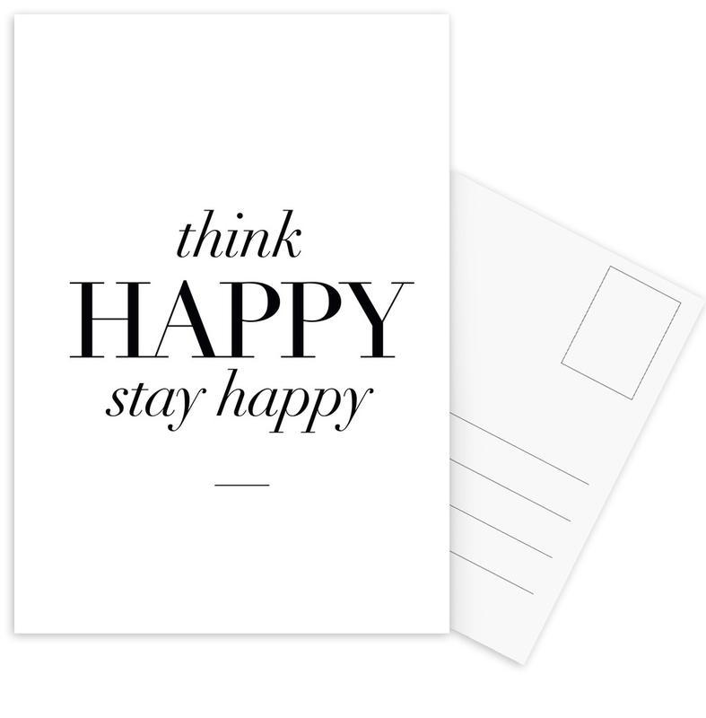 Think Happy Postcard Set