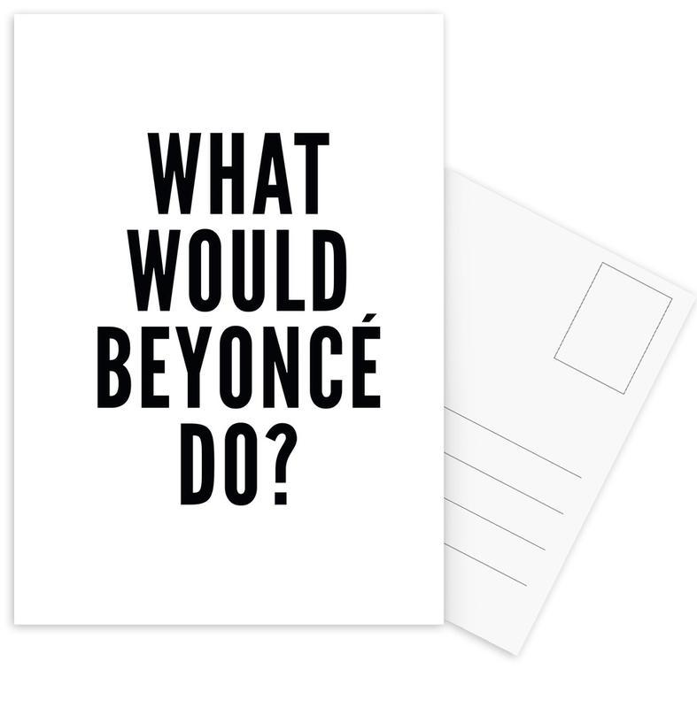 Black & White, Quotes & Slogans, beyonce Postcard Set