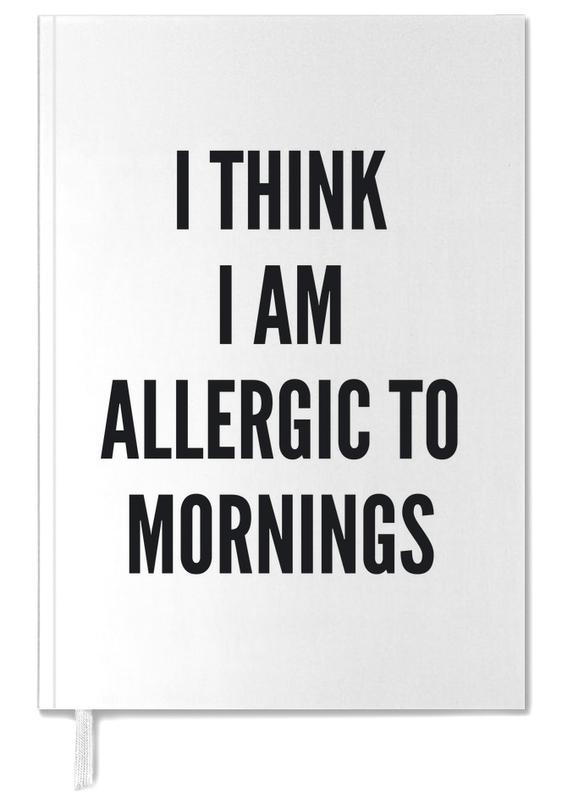 Black & White, Funny, Quotes & Slogans, Allergic Personal Planner