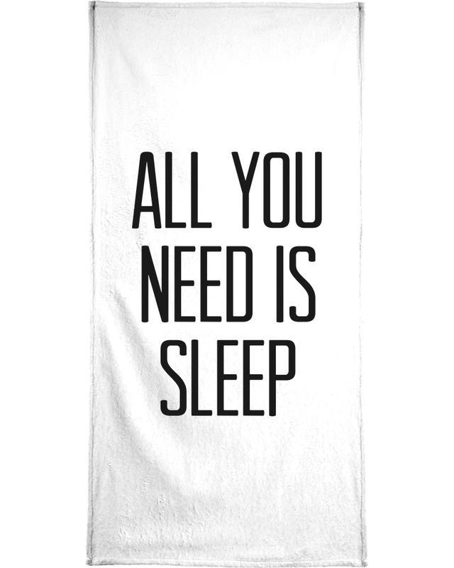 Black & White, Funny, Quotes & Slogans, Sleep Bath Towel