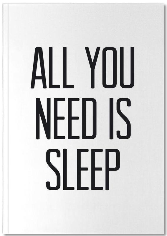 Noir & blanc, Humour, Citations et slogans, Sleep Notebook