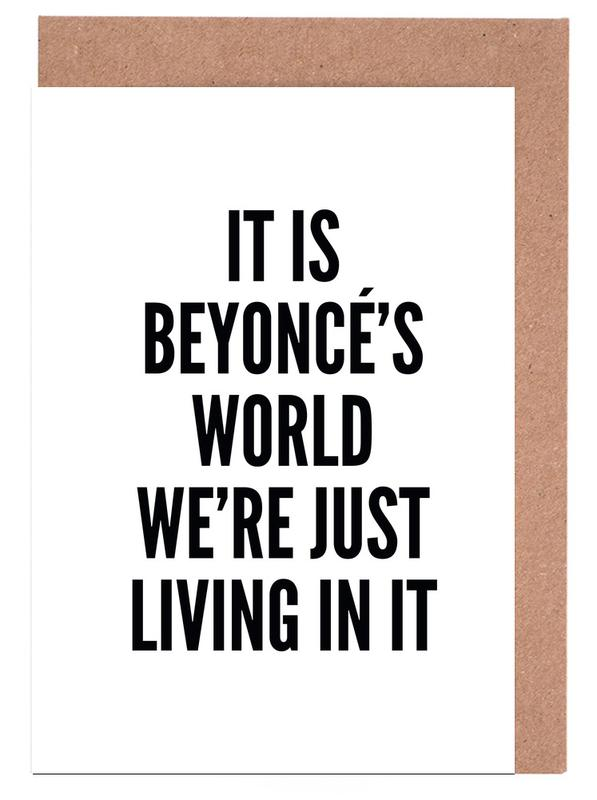 Beyonces World -Grußkarten-Set