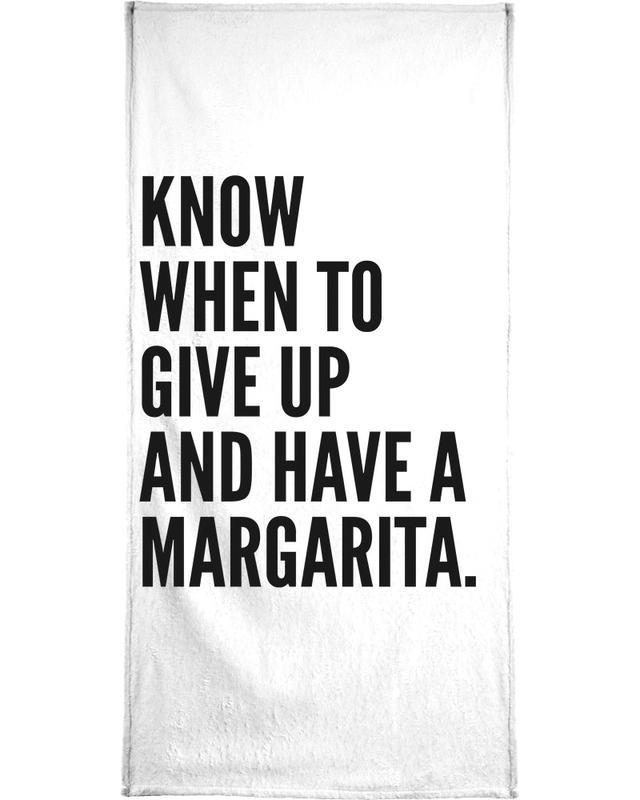 Black & White, Cocktails, Funny, Quotes & Slogans, Margarita 2 Bath Towel