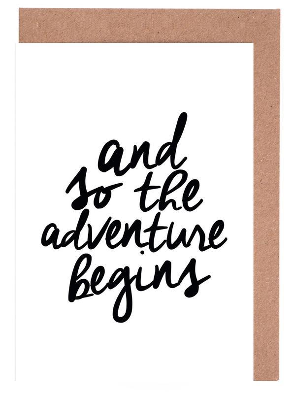 Adventure Begins -Grußkarten-Set