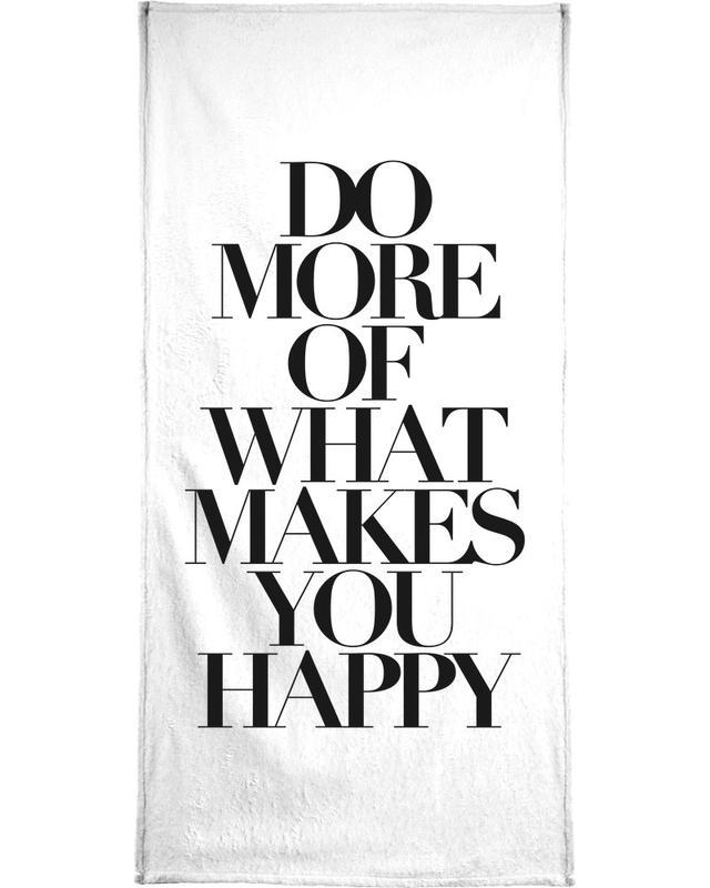 Black & White, Motivational, Quotes & Slogans, do more Bath Towel
