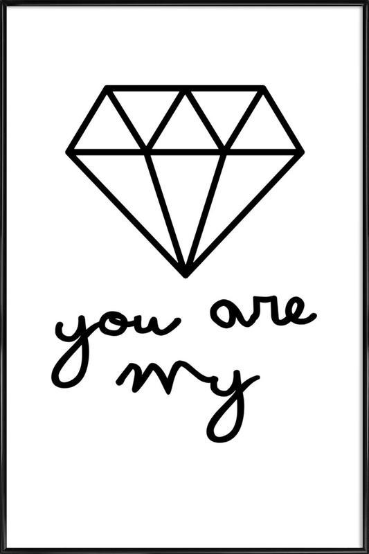 Diamond Framed Poster