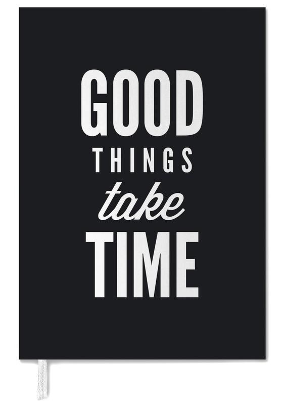 Quotes en slogans, Motivatie, Felicitaties, Zwart en wit, Good Things Take Time agenda