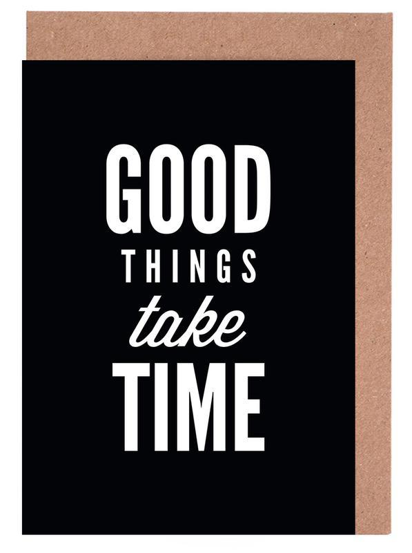 Good Things Take Time Greeting Card Set