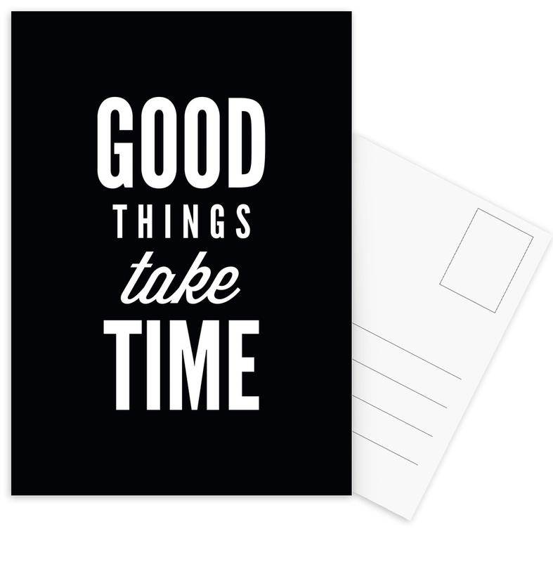 Good Things Take Time Postcard Set