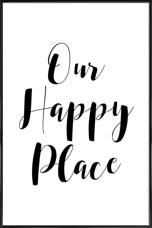 Our Happy Place ingelijste poster