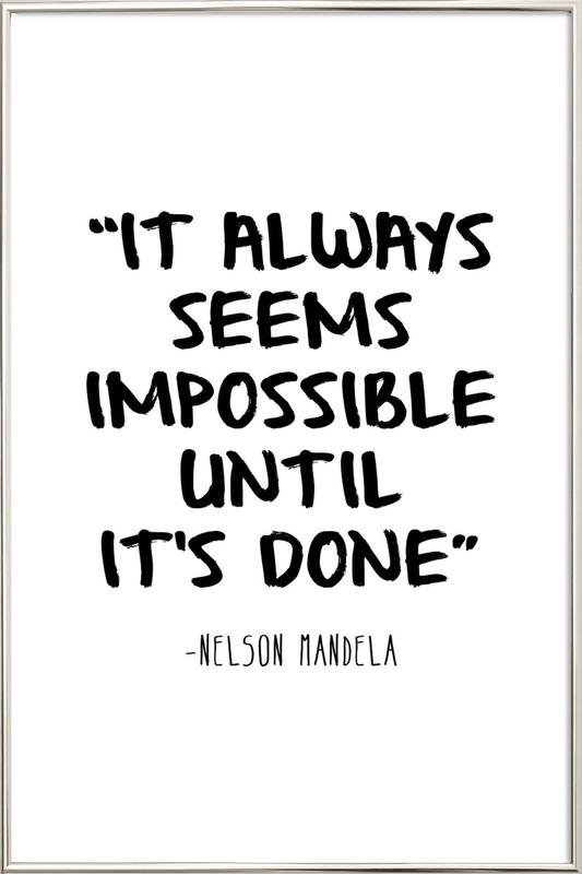 Impossible -Poster im Alurahmen