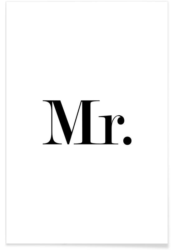 Noir & blanc, Citations et slogans, Mariages, Mr. affiche