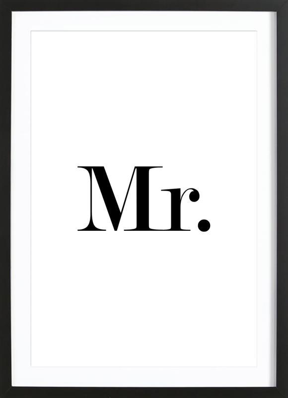 Mr. ingelijste print