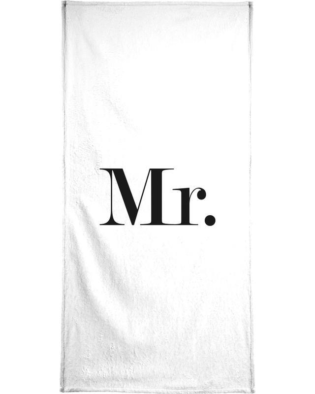 Schwarz & Weiß, Hochzeiten, Zitate & Slogans, Mr. -Handtuch