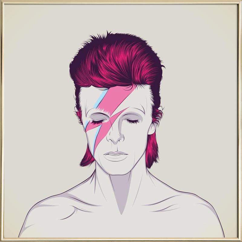 David Bowie poster in aluminium lijst