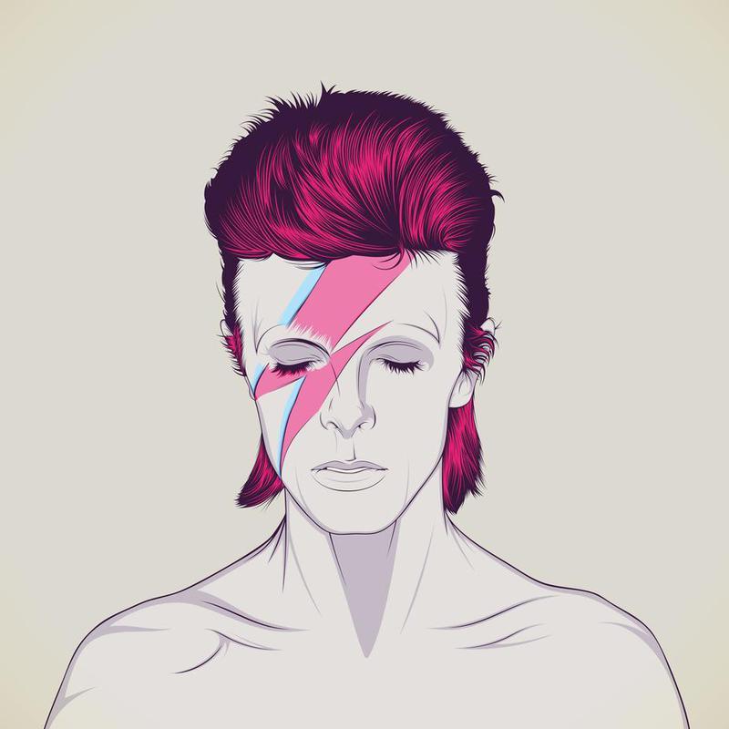 David Bowie alu dibond
