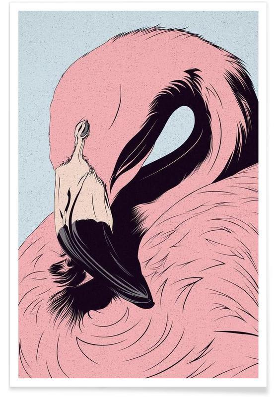 Flamants roses, Flamingo affiche