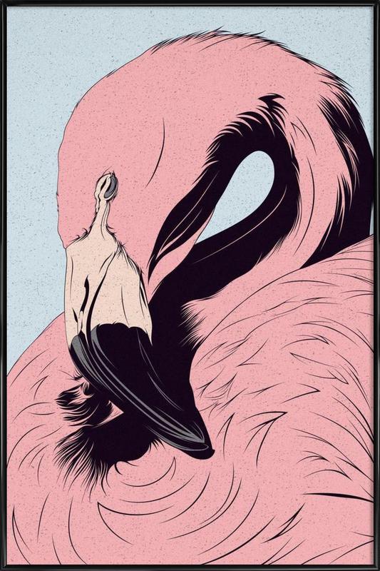 Flamingo ingelijste poster