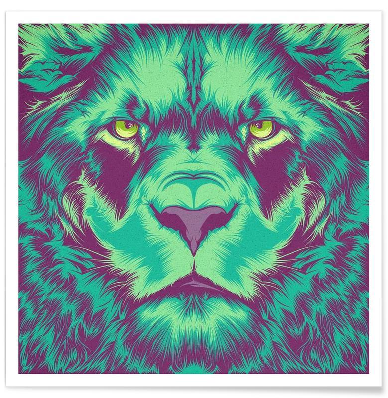 Löwen, Lion alt -Poster