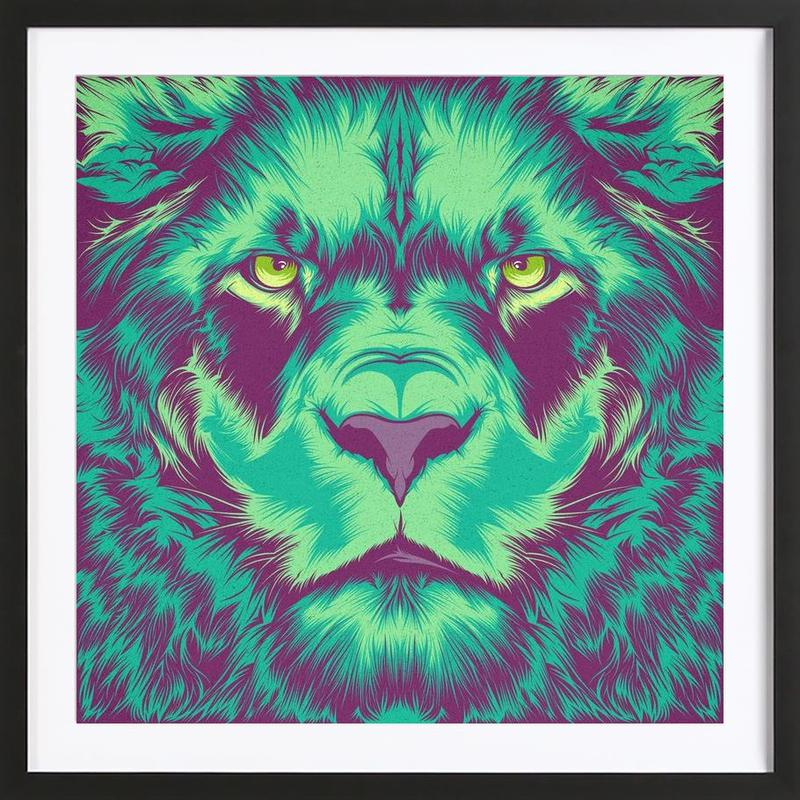 Lion alt Framed Print