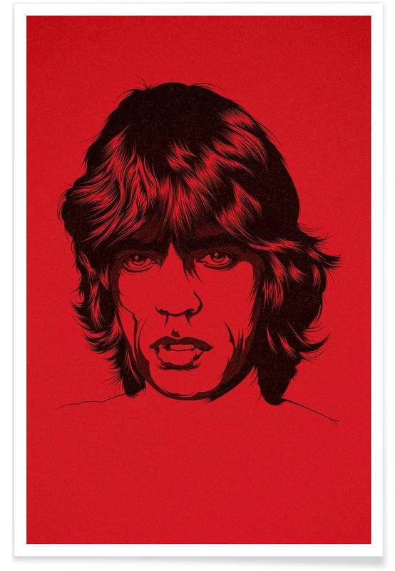 Rock, Trs red -Poster
