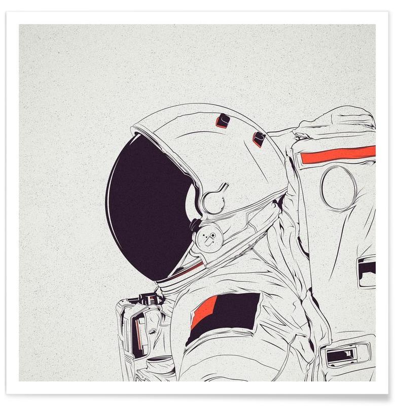 Astro White Poster
