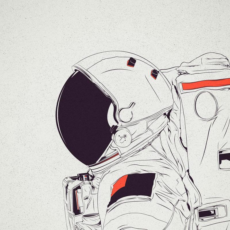 Astro White -Alubild