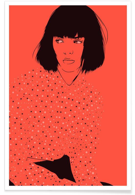 Portraits, Illustrations de mode, Home 04 affiche