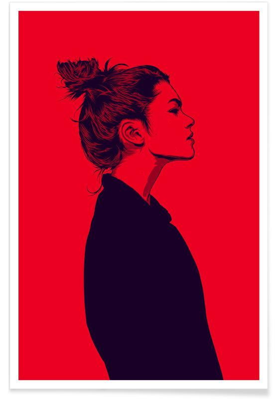 Portraits, Illustrations de mode, Calmly 02 affiche