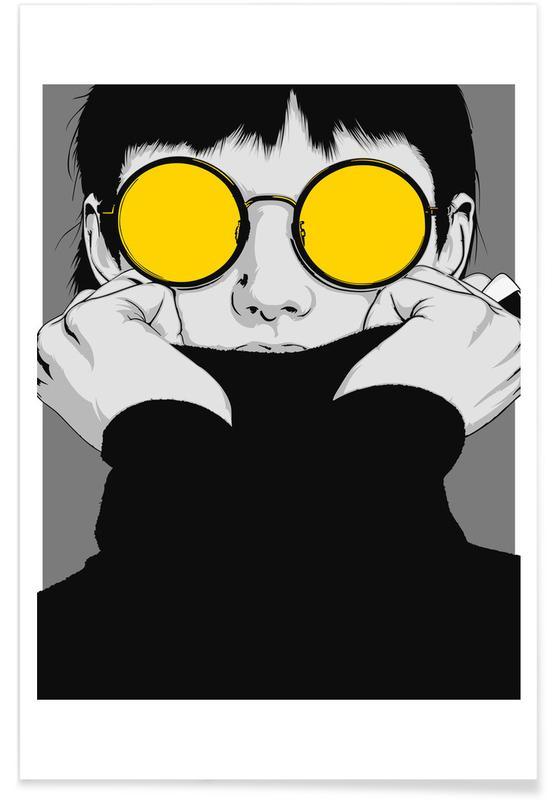 Portraits, Illustrations de mode, CV 01 affiche