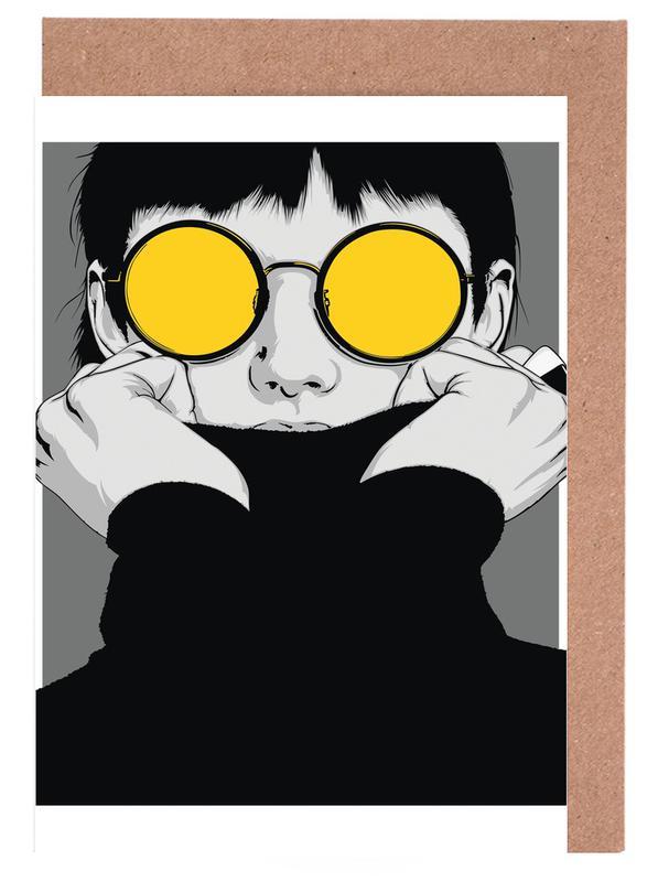 Portraits, Fashion Illustrations, CV 01 Greeting Card Set
