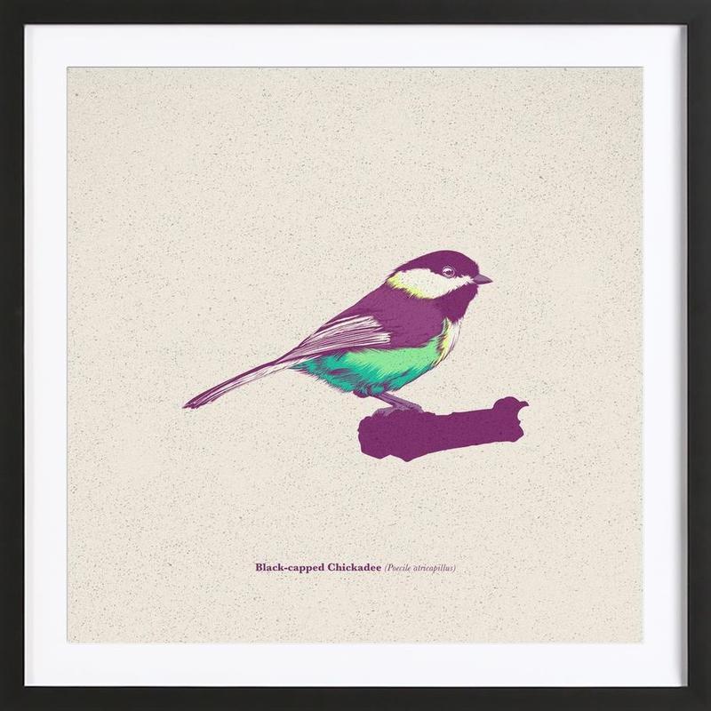 Bird 03 -Bild mit Holzrahmen