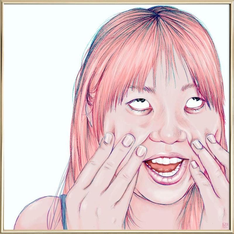 Minami -Poster im Alurahmen