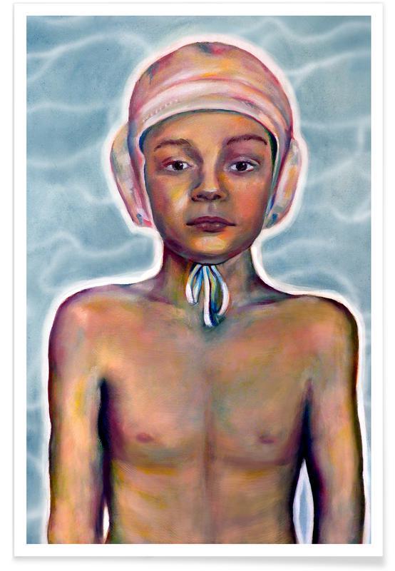 Portrætter, Svømning, Swimming Boy Plakat