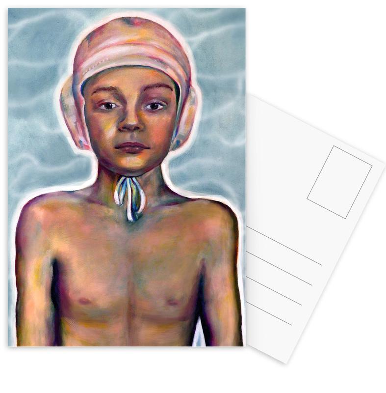 Portraits, Natation, Swimming Boy cartes postales